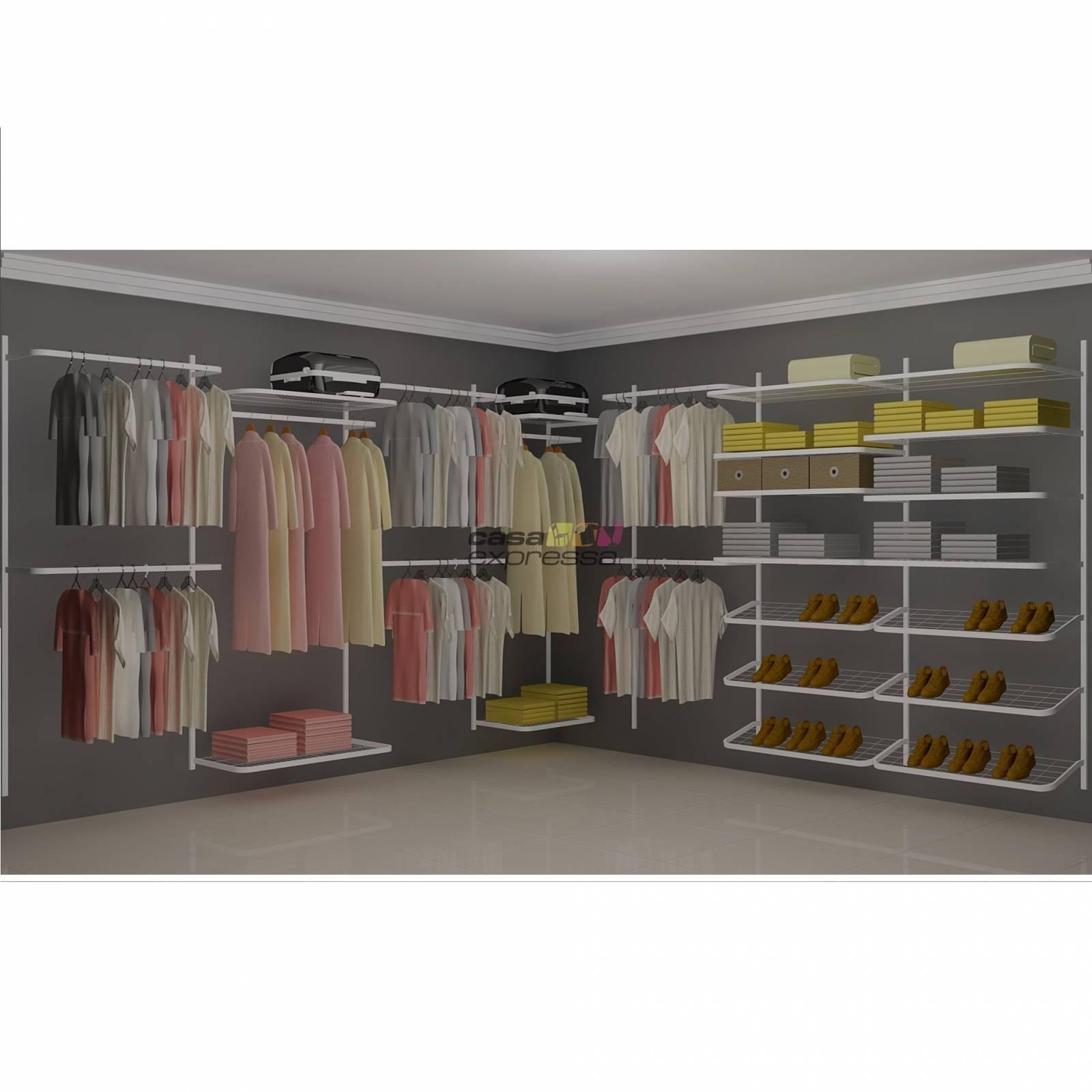 Closet Aramado em L  CLN08 - 3,40 x 3,40m