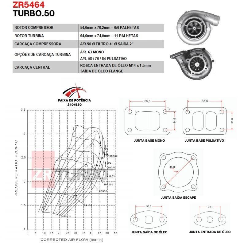 Turbina ZR .50 - ZR5464 - ITS Turbo