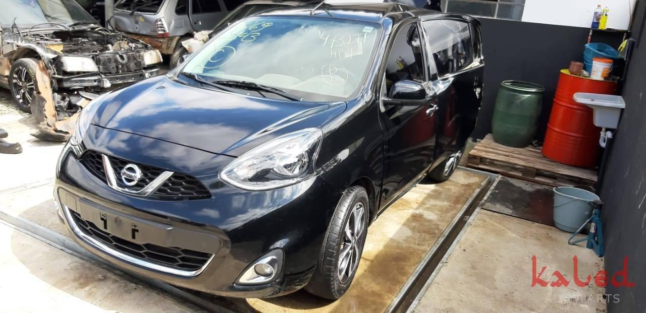Nissan March SL 1.6 16v 2015 sucata para venda de peças - Kaled Auto Parts