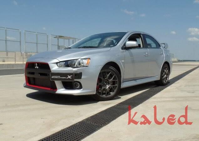 Suporte de placa em fibra Mitsubishi Lancer Evolution X - Kaled Auto Parts
