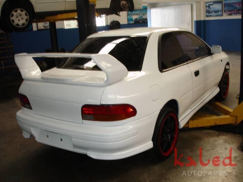 Aerofólio asa Subaru Impreza STi V5 c/ local para brack light para GC8 - Kaled Auto Parts