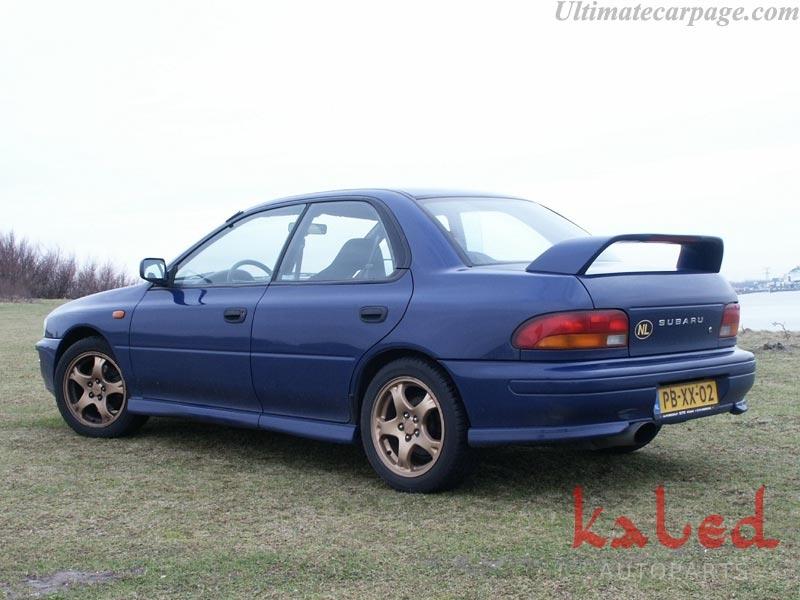 Kit de Saias laterais e spoilers em fibra p/ Subaru Impreza 93 a 2000 - Kaled Auto Parts