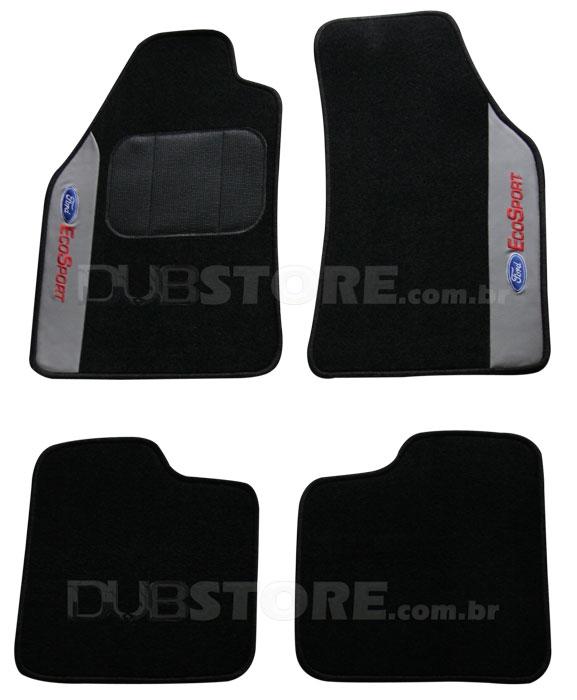 Jogo de Tapetes Automotivo em Carpet para Ford Ecosport Antigo | DUB Store