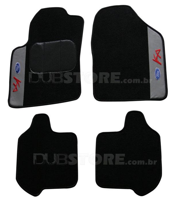 Jogo de Tapetes Automotivo em Carpet para Ford Ka Novo | DUB Store