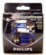 Kit Lampadas Philips Crystal Vision 4300k   H11 com pingos