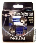 Kit Lampadas Philips Crystal Vision 4300k   H7 com pingos