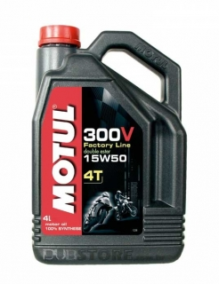Oleo para motor Motul 300V 4T Factory Line 15W50   4 litros   DUB Store