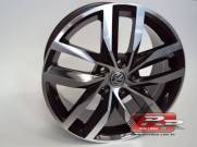 JOGO DE RODA VW GOLF MADRID REPLICA ZUNKY ZK560 15X6 DIAMANTADO PRETO 5X100 ET 40