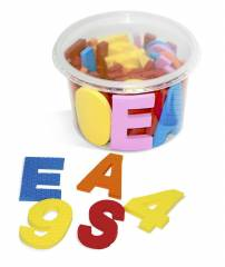 Alfabeto móvel EVA 6 mm