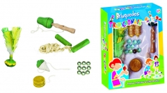 Brinquedos Tradicionais: Pião, Bilboquê, Bolinhas de Gude, Ioiô, Peteca