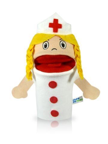 Fantoche de Mão Profissões - Enfermeira