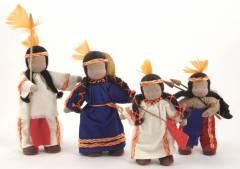 Familia Indigena - 4 peças