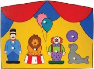Quebra-Cabeça com Pinos - Circo
