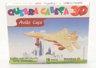 Quebra-Cabeça 3D - Avião Caça