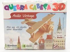 Quebra-Cabeça 3D - Avião Vintage