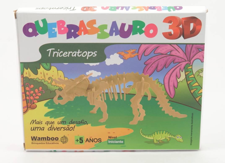 Quebra-Cabeça 3D - Tricerátopis