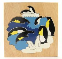 Quebra-Cabeça em Camadas - Pinguim
