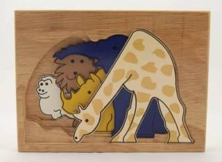 Quebra-Cabeça em Camadas - Selva (Girafa)