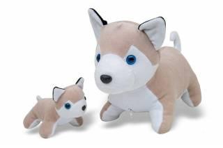 Husky com Filhote