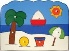 Quebra-Cabeça com Pinos - Praia