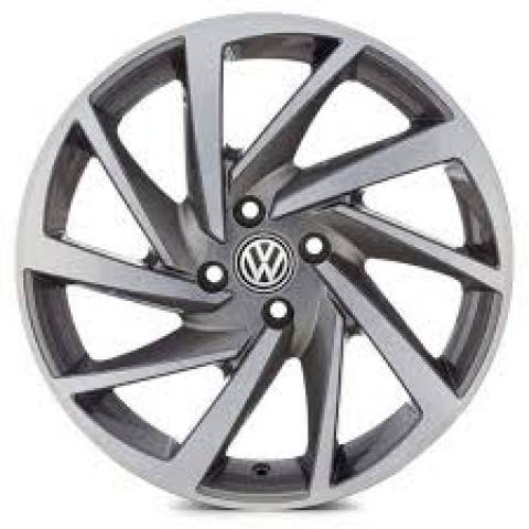 RODA(VW)POLO R93 PRETA DIAMANTADA E GRAFITE DIAMANTADA