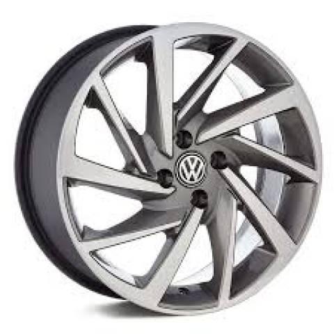 RODA(VW)POLO R93,PRETA,PRETA DIAMANTADA E GRAFITE DIAMANTADO