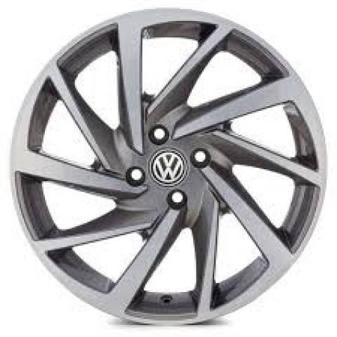 RODA(VW)POLO R93,PRETA DIAMANTADA E GRAFITE DIAMANTADO