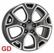 RODA R76 JEEP RENEGADE GRAFITE DIAMANTADO PRETO E HD