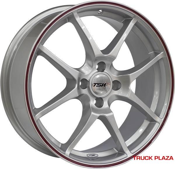 RODA TRACKSTAR aro 17 x 7 4X100 et40 PRATA P/ GM, VW, FIAT..