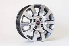 Jogo de 04 Rodas Fiat KR R59 aro 14 4x98  Grafite Diamantada