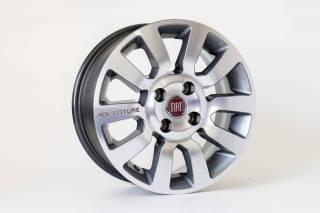 Jogo de 04 Rodas Fiat KR R59 aro 15 4x98 Grafite Diamantada