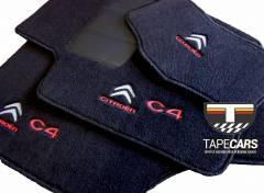 Tapete Automotivo Citroen C4 em Carpet Linha Luxo