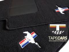 Tapete Automotivo Ford Mustang em Carpet Linha Luxo