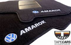 Tapete Automotivo VW Amarok em Carpet Linha Luxo