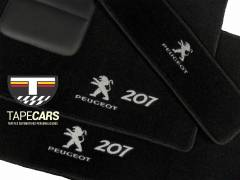 Tapete Automotivo Peugeot 207 em Carpet Linha Luxo