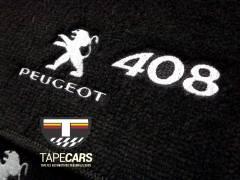 Tapete Automotivo Peugeot 408 em Carpet Linha Luxo