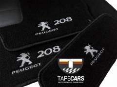 Tapete Automotivo Peugeot 208 em Carpet Linha Luxo
