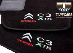 Tapete Automotivo Citroen C3 XTR em Carpet Linha Luxo