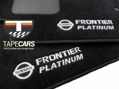 Tapete Automotivo Nissan Frontier Platinum  em Carpet Linha Luxo
