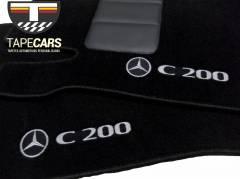 Tapete Automotivo Mercedes Benz C 200 em Carpet Linha Luxo