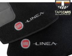 Tapete Automotivo Fiat Linea em Carpet Linha Luxo
