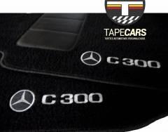 Tapete Automotivo Mercedes Benz C 300 em Carpet Linha Luxo