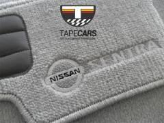 Tapete Automotivo Nissan Sentra  em Carpet Linha Luxo