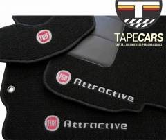 Tapete Automotivo Fiat Mille Atractive Carpet Linha Luxo