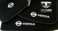 Tapete Automotivo Nissan Versa em Carpet Linha Luxo