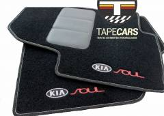 Tapete Automotivo Kia Soul em Carpet Linha Luxo