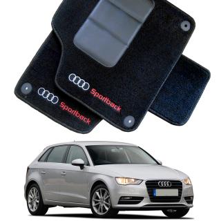 Tapete Automotivo Audi A3 Sportback em Carpet Linha Luxo   Scar Automotive