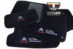 Tapete Automotivo Citroen C4 Lounge em Carpet Linha Luxo