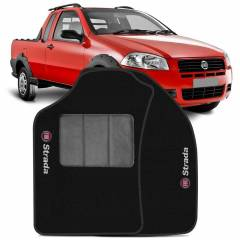 Tapete Automotivo Fiat Strada carpete base pinada