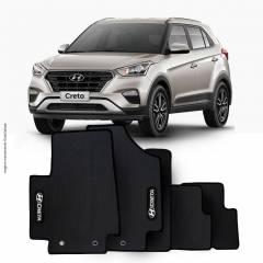 Tapete Automotivo Hyundai Creta - borracha PVC bordado Linha Black